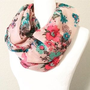 Beautiful Floral Spring Scarf in Pink